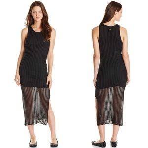 Volcom Fishnet Sweater Midi Dress Black S